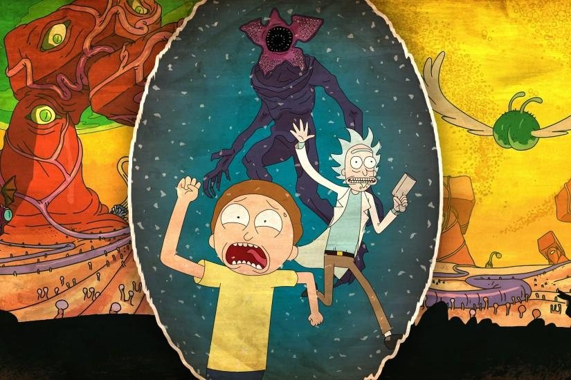 beautiful rick and morty wallpaper 3200x1800 screen