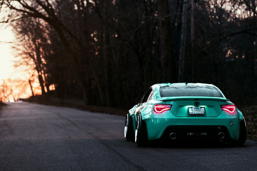 Preview wallpaper toyota, gt86, rear view, evening 1920x1080