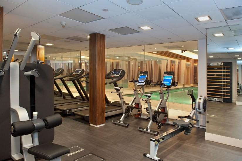 luxury Landmark Spa & Health Club Gymnasium with Technogym equipment