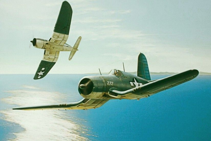 Wallpaper vought f4u corsair, pacific warriors, ww2, war .