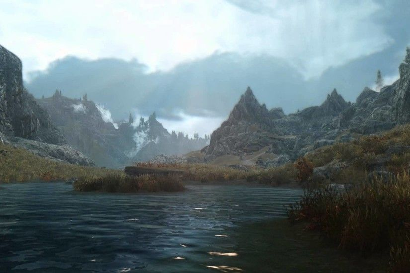 Elder Scrolls V Skyrim - Heavily Modded Scene - [Live Wallpaper] - (1080p)  - YouTube