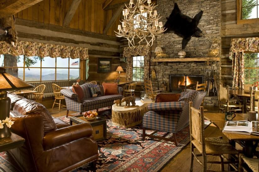 house, cottage, sofa, fireplace, interior