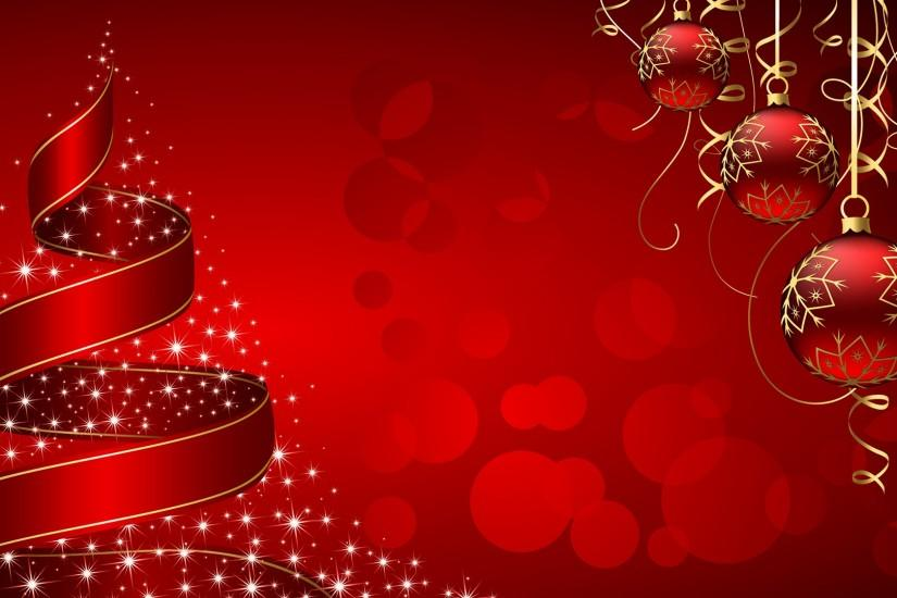 Red HD Christmas Background Wallpapers