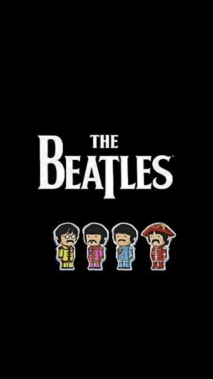 Preview wallpaper the beatles, name, members, picture, font 1440x2560