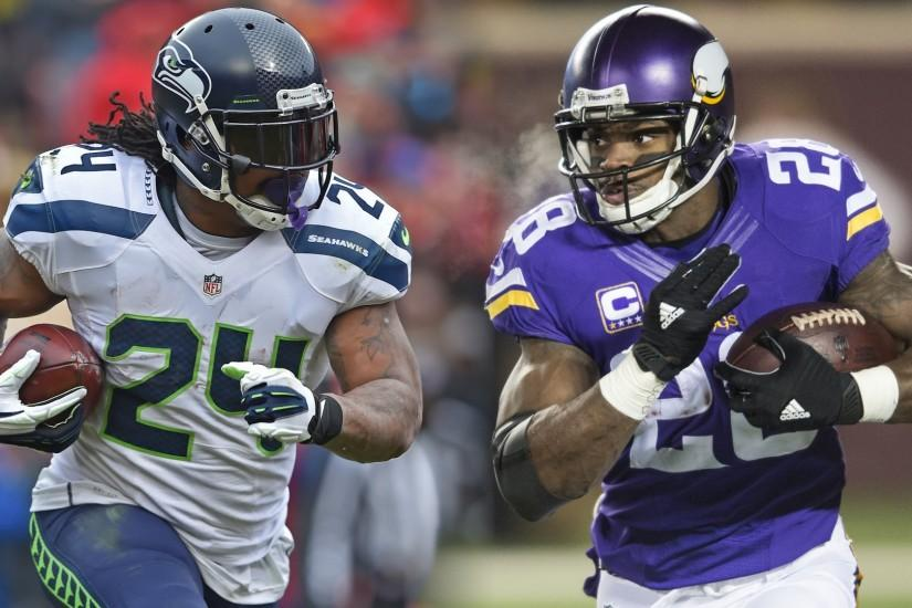 Adrian Peterson: Marshawn Lynch is the second best RB in the NFL - YouTube