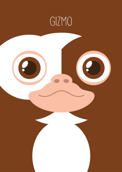 Gremlins Minimalist Series - Gizmo. Available on my Redbubble shop : http://