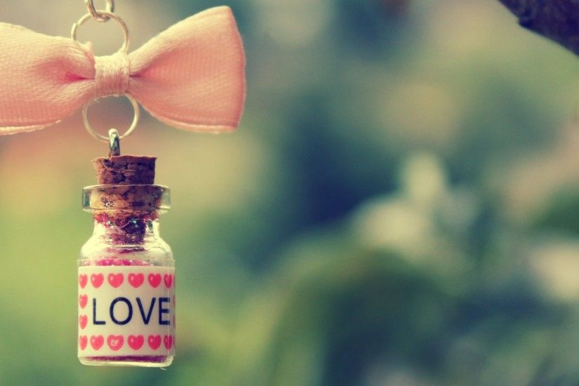 Cute Love Bottle Wallpaper Desktop Wallpaper