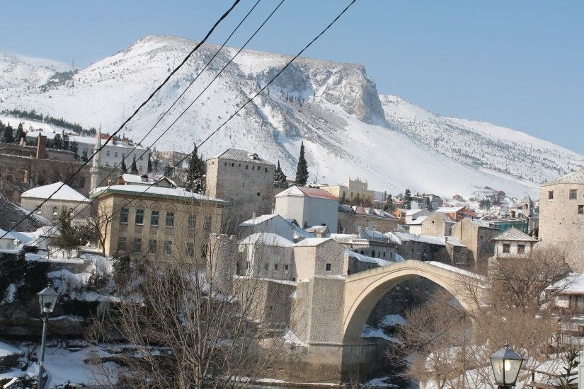 Mostar, Old Bridge, Winter, Snow, Ottoman Empire, Ottoman, Mosque, Bosnia  And Herzegovina, River, Neretva Wallpapers HD / Desktop and Mobile  Backgrounds