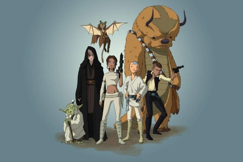Avatar - The Last Airbender Star Wars Crossover Wallpaper