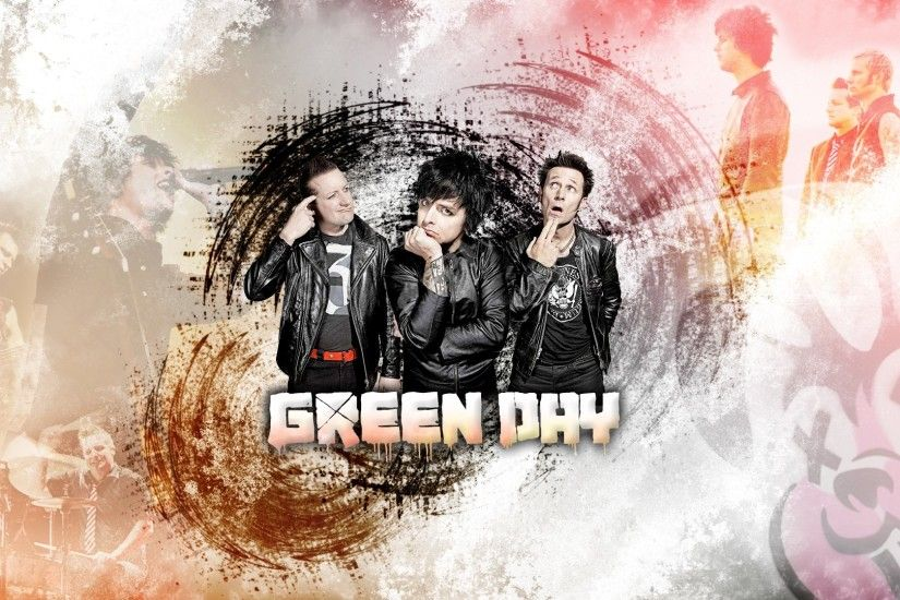 1920x1080 Wallpaper green day, band, graphics, letters, finger