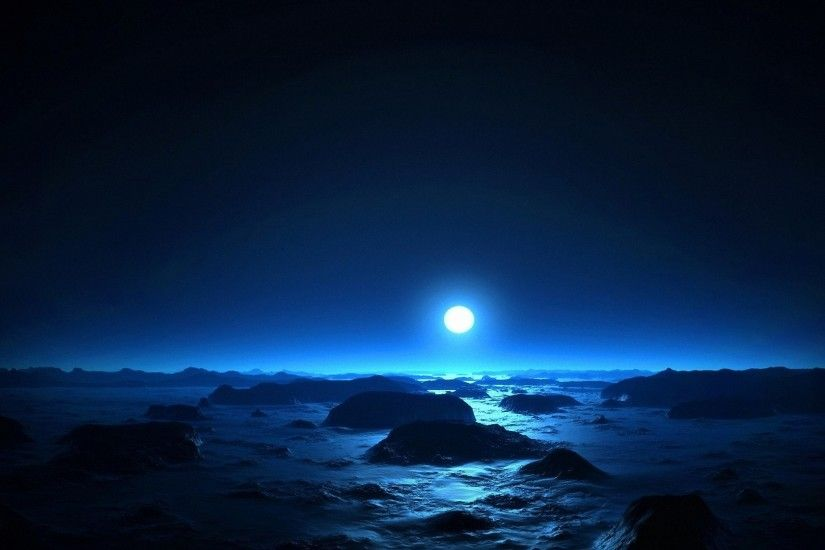 pretty night moon HD backgrounds