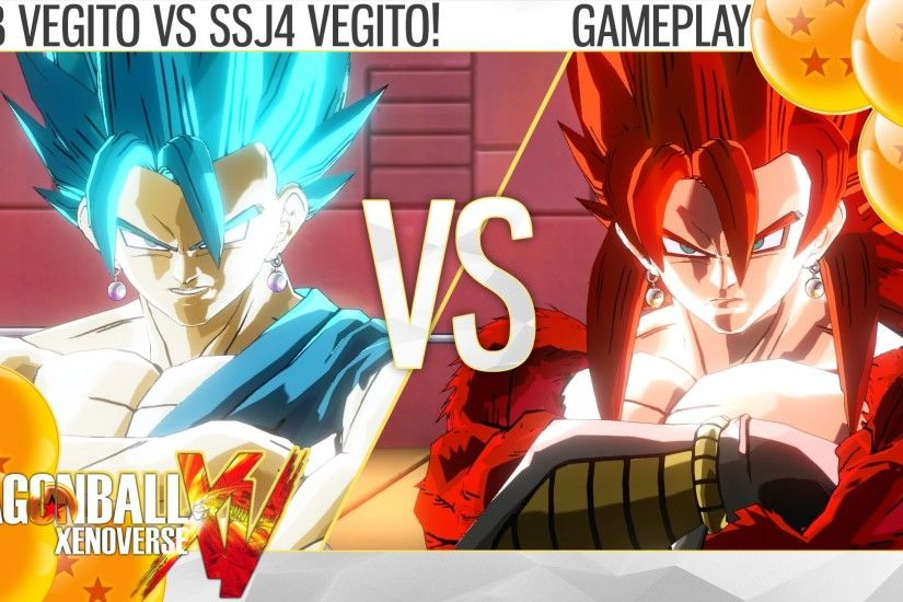 SSJB VEGITO VS SSJ4 VEGITO!!!! (Super VS GT) (Road to Dragon Ball Xenoverse  2) - YouTube