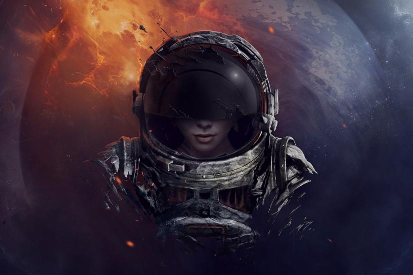 free download astronaut wallpaper 2560x1440 hd