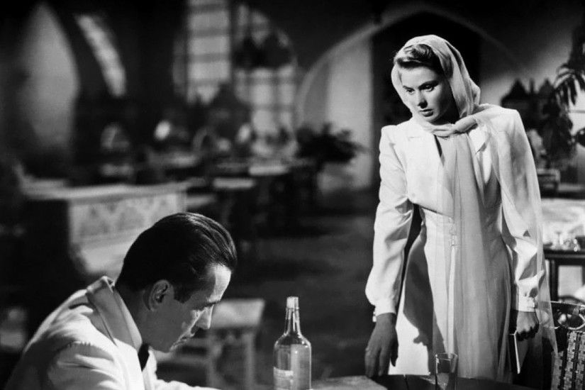 movies humphrey bogart casablanca ingrid bergman movie stills 1600x1198  wallpaper Art HD Wallpaper