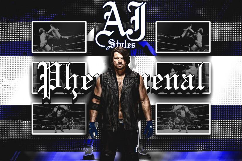 AJ Styles Wallpaper (1080p) by DarkVoidPictures