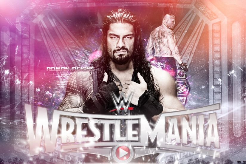 WWE Wrestlemania 31 Roman Reigns vs Brock Lesnar by SmileDexizeR