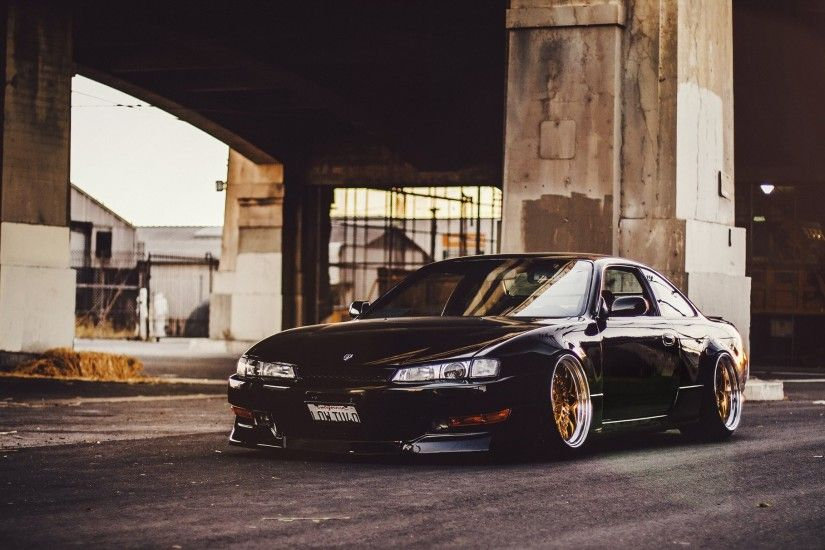 nissan 240sx s14 black stance low nissan sylvie black tuning