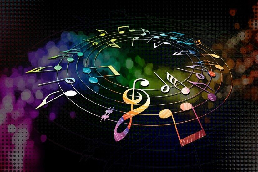0 3d Colorful Music Notes Wallpaper Clipart Panda | Free Clipart 4K Musical  Notes Wallpapers High Quality Download Fr