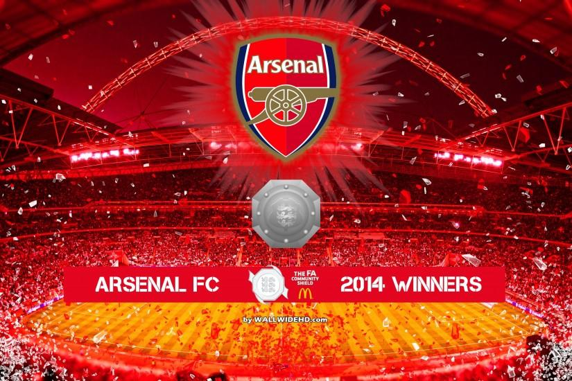Arsenal FC 2014 FA Community Shield Winners Wallpaper