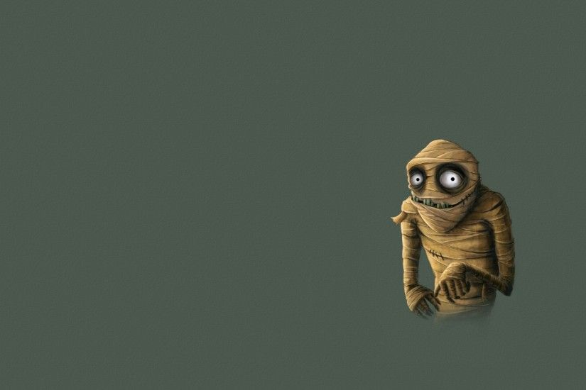 2560x1600 Wallpaper mummy, monster, bandages, minimalism
