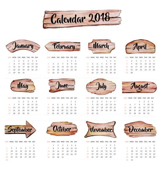 Colorful Calendar Wallpaper 2018 View HD Image of Colorful