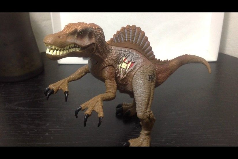 Hasbro Jurassic Park III Re-Ak A-Tak Electronic Spinosaurus Figure Review -  YouTube