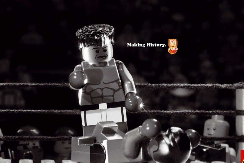 Boxing muhammad ali monochrome historic anniversary legos association .