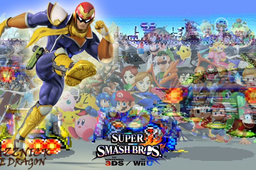SSB4 Wallpaper Captain Falcon by Mazznick SSB4 Wallpaper Captain Falcon by  Mazznick