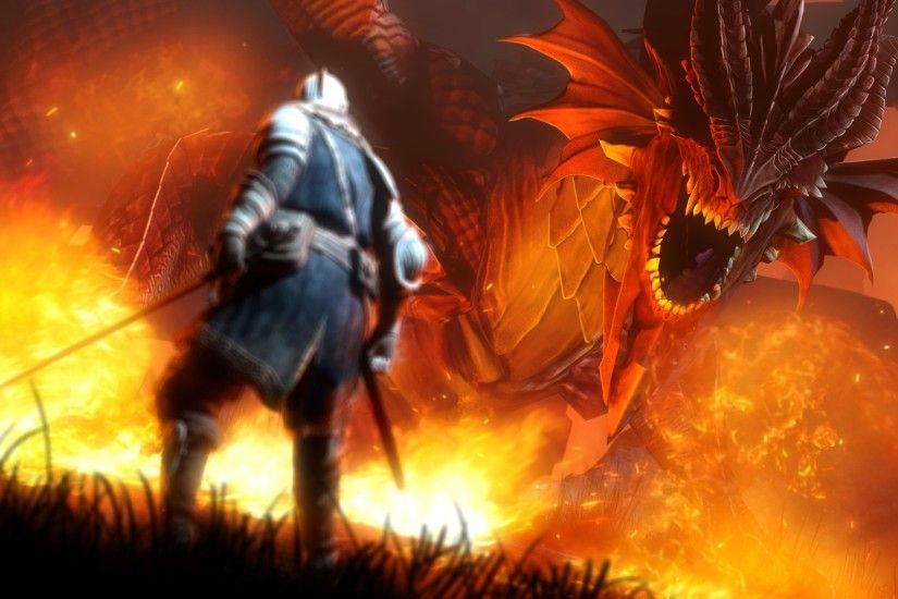 Dragon Fire HD Widescreen Wallpapers 10009 - Amazing Wallpaperz