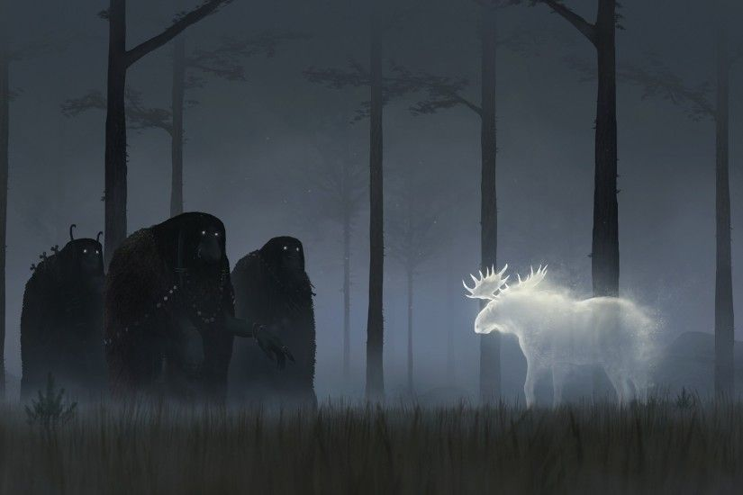 fantasy Art, Dark, Moose Wallpapers HD / Desktop and Mobile Backgrounds