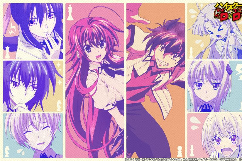 Anime - High School DxD Rias Gremory Issei Hyoudou Wallpaper