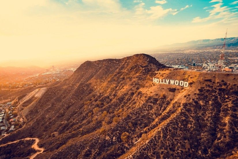 1920x1080 Wallpaper hollywood, mountains, los angeles