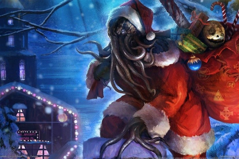 #H. P. Lovecraft, #Cthulhu, #horror, #creature, #Christmas .