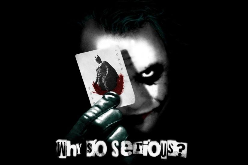 Why So Serious, Joker, Batman, Card, Heath Ledger