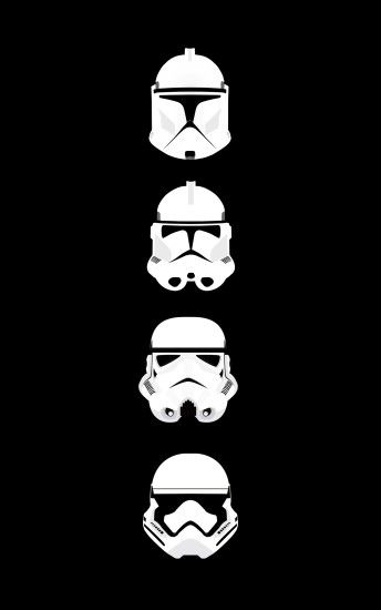 General 1600x2560 Star Wars clone trooper stormtrooper helmet minimalism  portrait display
