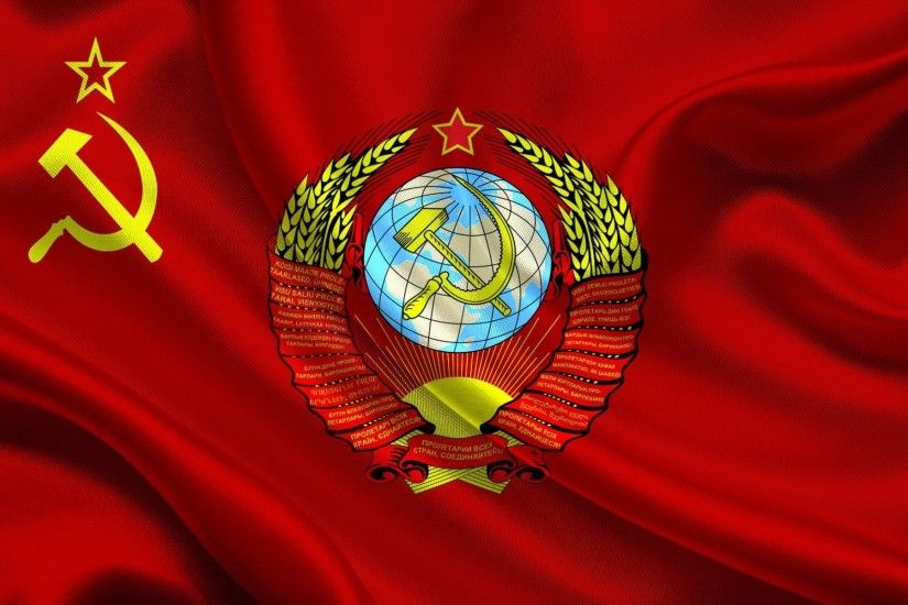 flag soviet union coat of arms soviet union