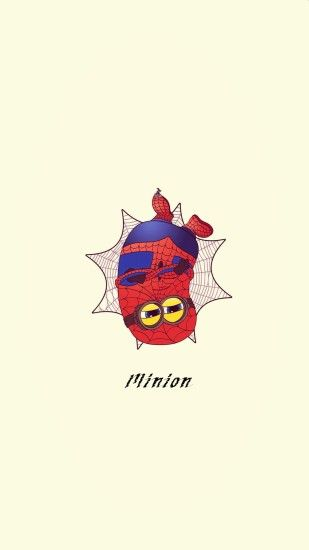 2014 Halloween spider man minion apple iphone 6 plus wallpaper HD - cartoon  Despicable Me iphone