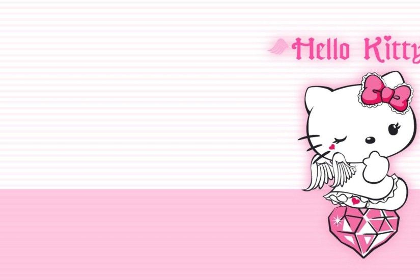 Wallpapers For > Hello Kitty Background Pink