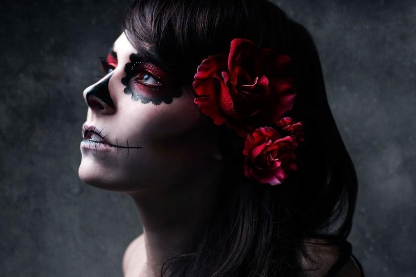 Sugar Skull Makeup Wallpaper 755852 ...