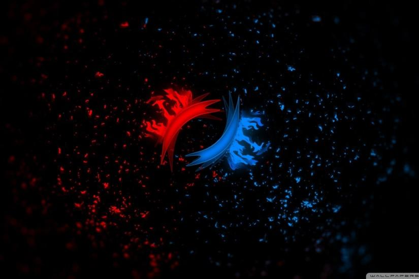 widescreen red vs blue wallpaper 1920x1080 for mobile hd