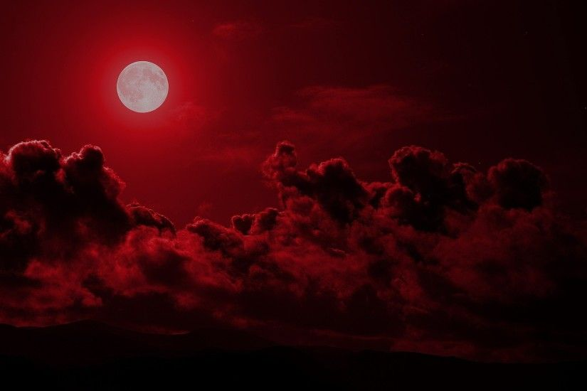 Red Moon Wallpaper HD