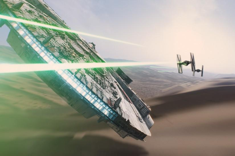 Star Wars, Star Wars: Episode VII The Force Awakens, Millennium Falcon  Wallpaper HD