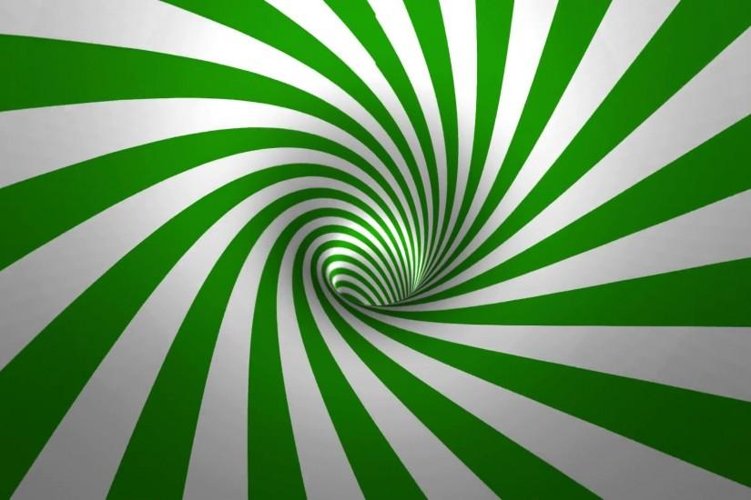 Hypnotic spiral , green and white background in 3D Motion Background -  VideoBlocks