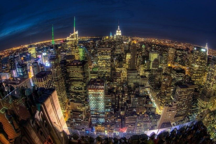 Nyc City Lights In High Resolution