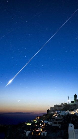 Shooting Star Over Cliff City #iPhone #6 #plus #Wallpaper