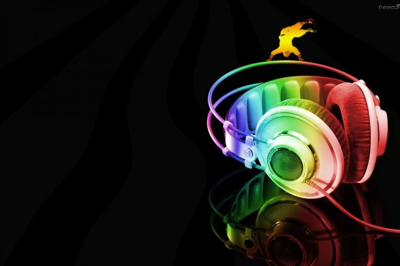 Neon Headphone Cool Music Wallpaper Wallpaper | WallpaperLepi