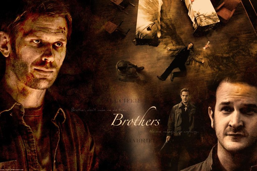 Supernatural Lucifer and Gabriel Background