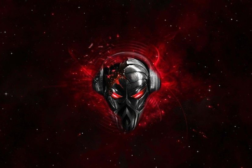 Red Robot Skull Vector in HD | HD 3D and Abstract Wallpaper Free Download  ...