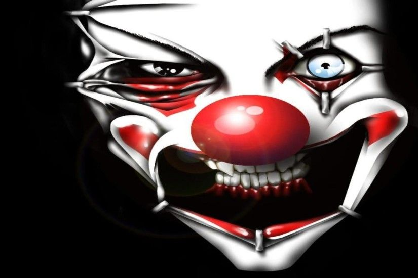 1920x1080 Evil clown face free desktop background - free wallpaper image