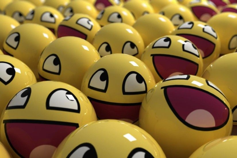 Funny Smiley Faces, awesome, balls, 1920x1200 wallpaper